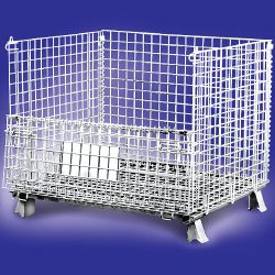 Warehouse Metal Pallet Mesh Container 04_resize