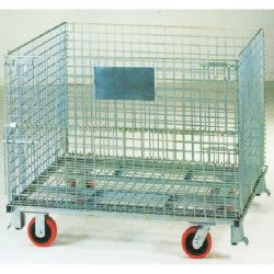 Warehouse Metal Pallet Mesh Container with Wheels_resize