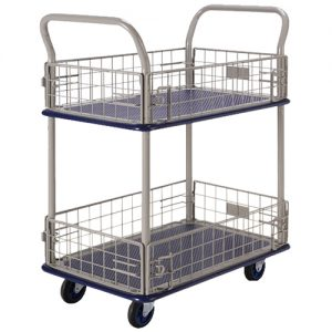 2 Shelf Trolley with Iron Net NB127_resize