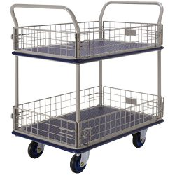 2 Shelf Trolley with Iron Net NF327_resize
