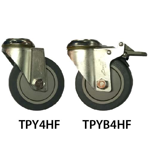 4 Inches Hole Fitting TPY Castor Wheel TPY4HF & TPYB4HF_resize