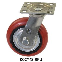 4 inches KCCY Medium Duty Red PU Wheel Castor KCCY4S-RPU_resize