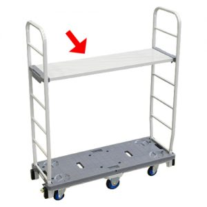 6 Wheel Slim Cart With Shelf 6SC503-WS_resize