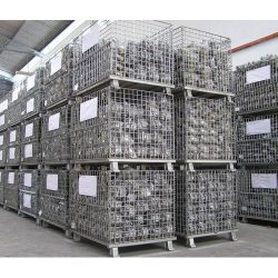 Warehouse Metal Pallet Mesh Container 02_resize