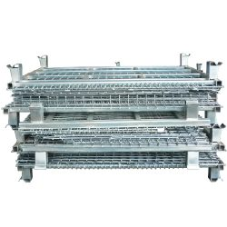 Warehouse Metal Pallet Mesh Container Nestable_resize