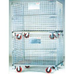 Warehouse Metal Pallet Mesh Container Stackable_resize