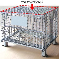 Warehouse Metal Pallet Mesh Container Top Cover 02